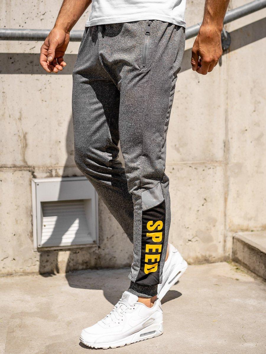 Pantaloni de trening joggers gri Bolf HY717 imagine