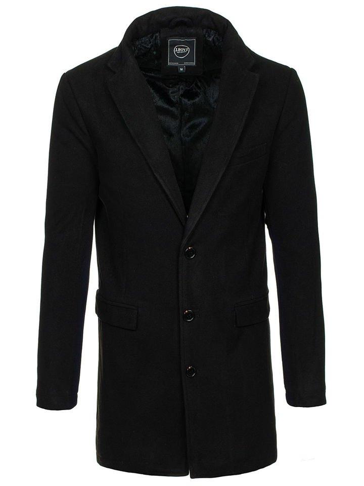 Palton de iarnă bărbați negru Bolf 1047B imagine