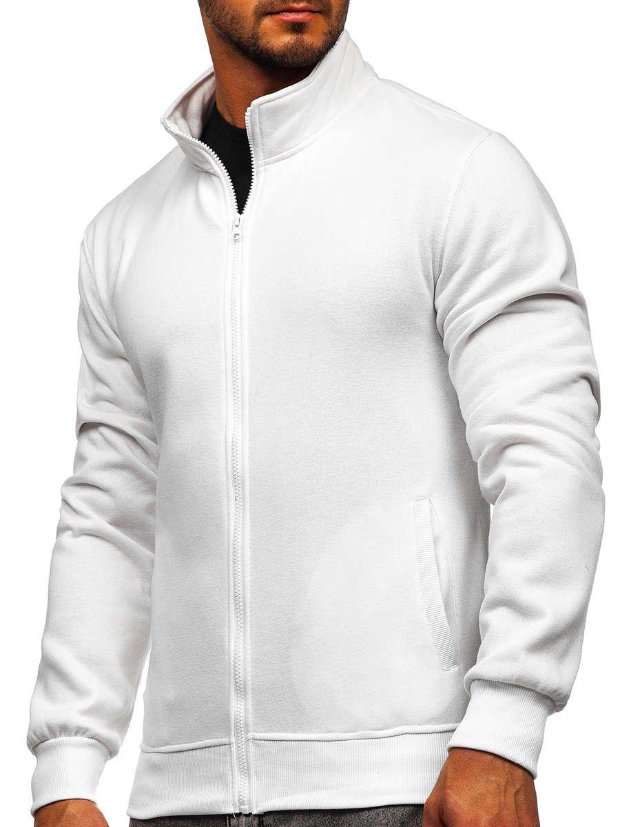 Bluză cu fermoar albă Bolf B2002 imagine
