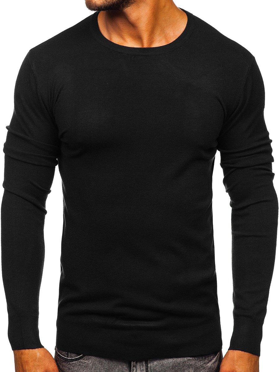 Pulover negru bărbați Bolf YY01 imagine