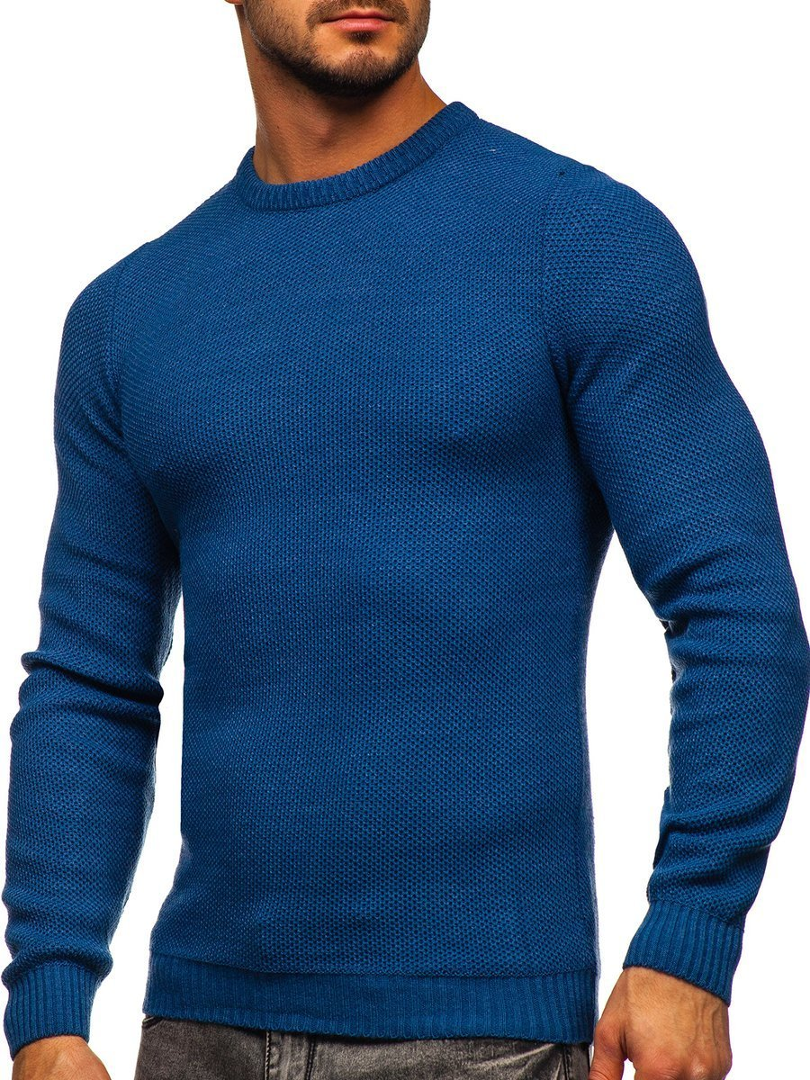 Pulover albastru bărbați Bolf 4629