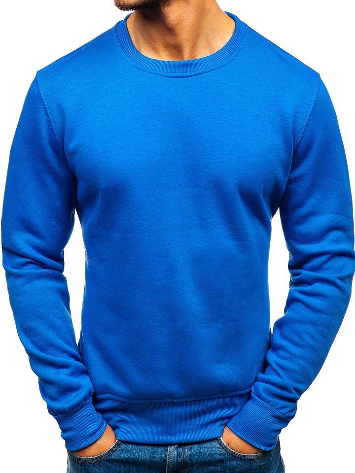Bluză fără glugă pentru bărbat albastră Bolf BO-01