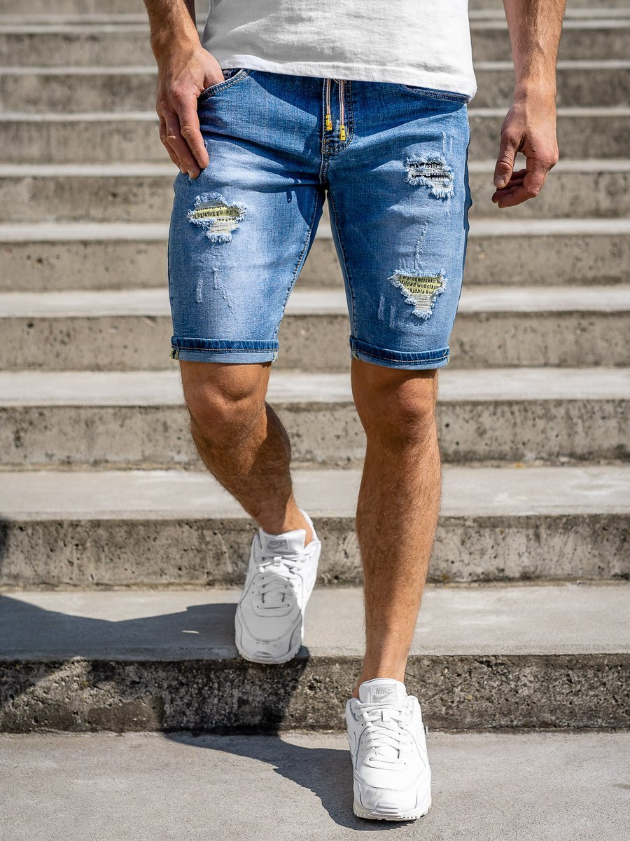 Pantaloni scurți de blugi bleumarin Bolf KG3813 imagine