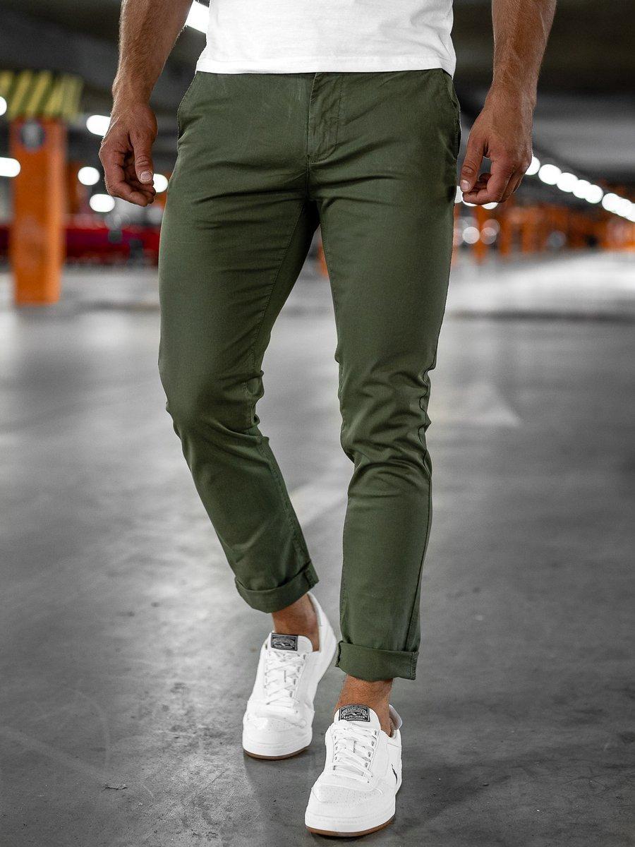 Pantaloni chinos verzi Bolf 1146-1 imagine