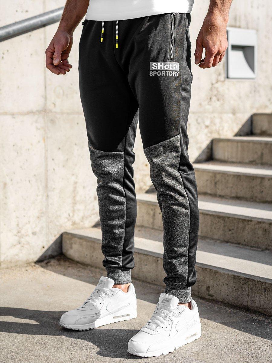 Pantaloni de trening negri Bolf K50002 imagine