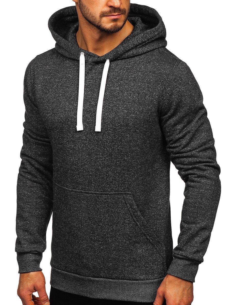 Bluză cu glugă pentru bărbat grafit Bolf 02 imagine
