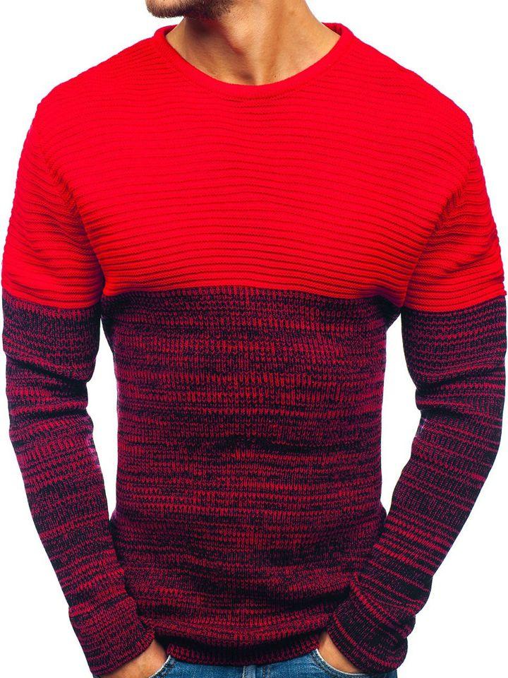 Pulover pentru bărbat roșu Bolf 164