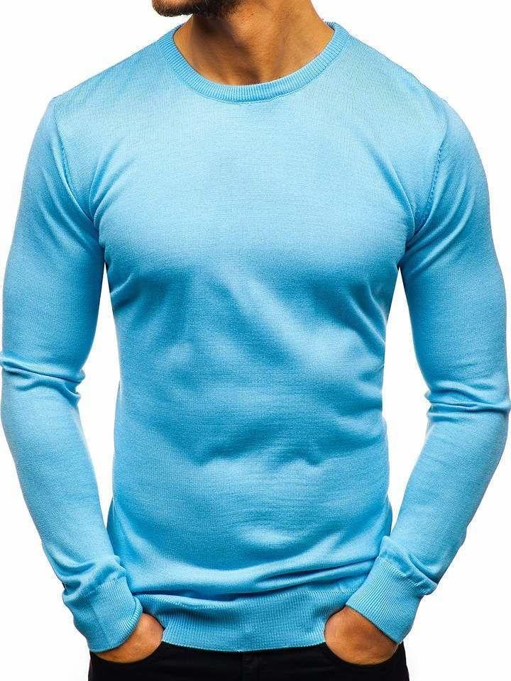 Pulover bărbați albastru Bolf 2300 imagine