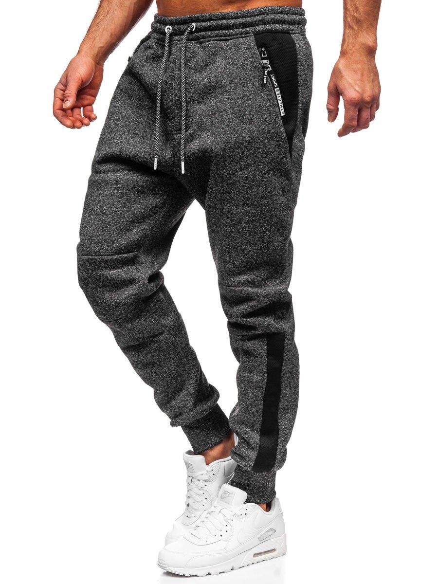 Pantaloni de trening negri Bolf Q1092