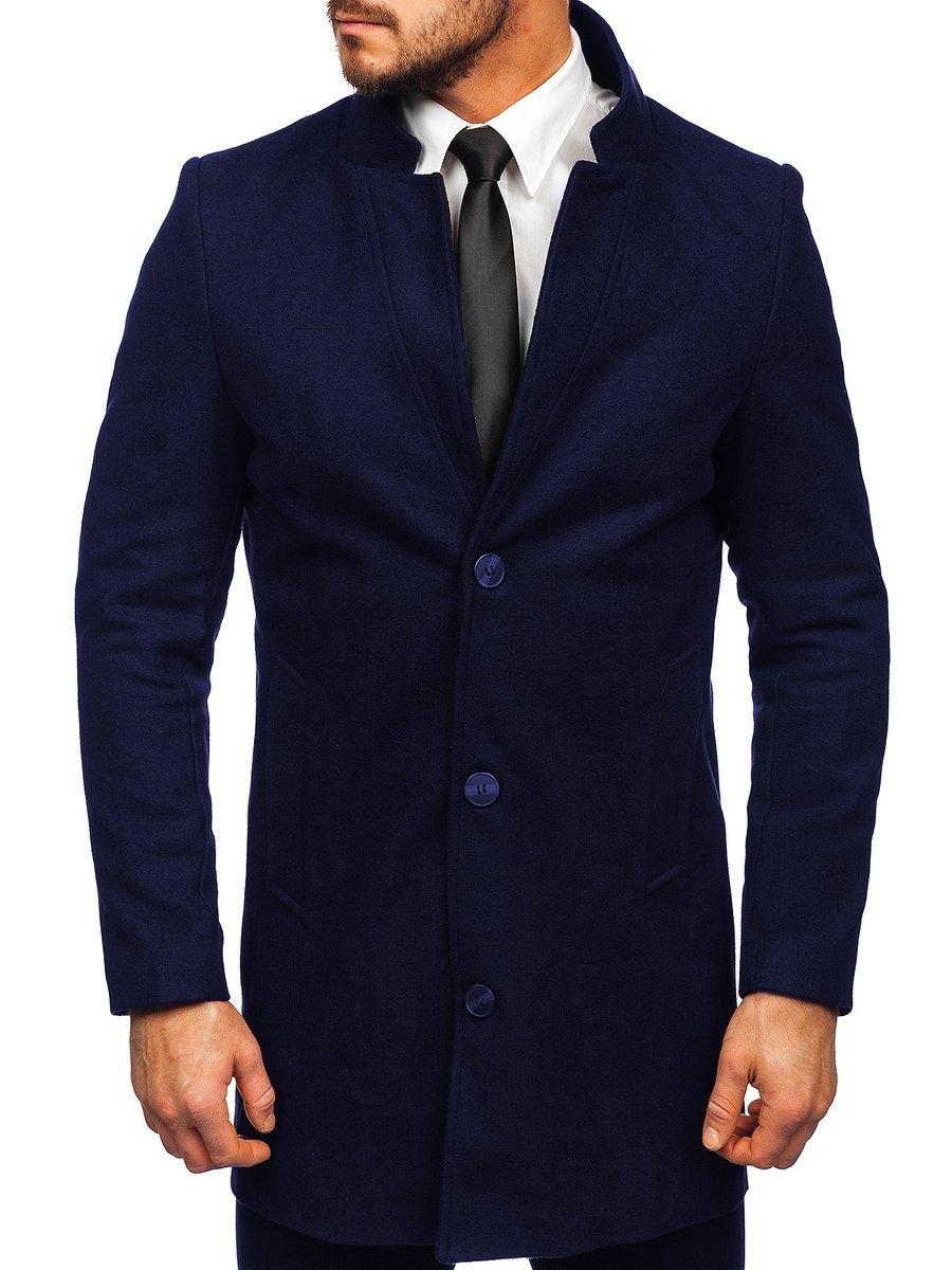 Palton de iarnă bleumarin Bolf 0010 imagine