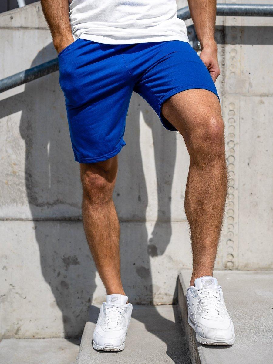 Pantaloni de trening scurți albastru Bolf KK301 imagine