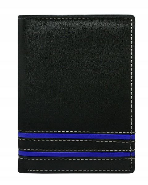 Portofel de piele bărbați albastru 599 imagine