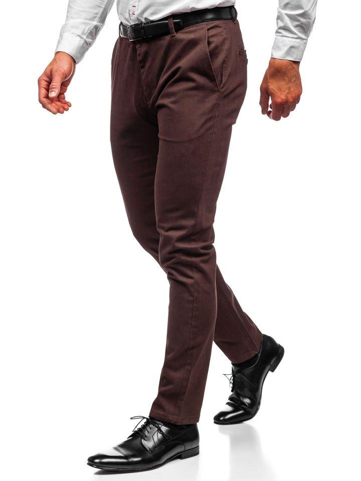 Pantaloni chino bărbați maro Bolf 1120