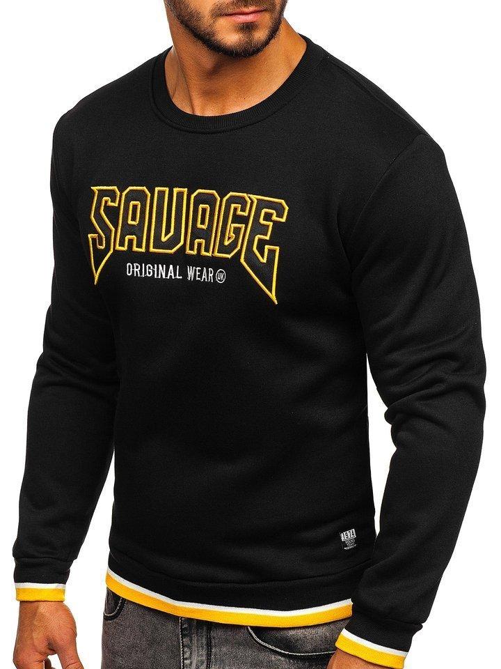 Bluza cu imprimeu bărbati neagra Bolf HY529 imagine