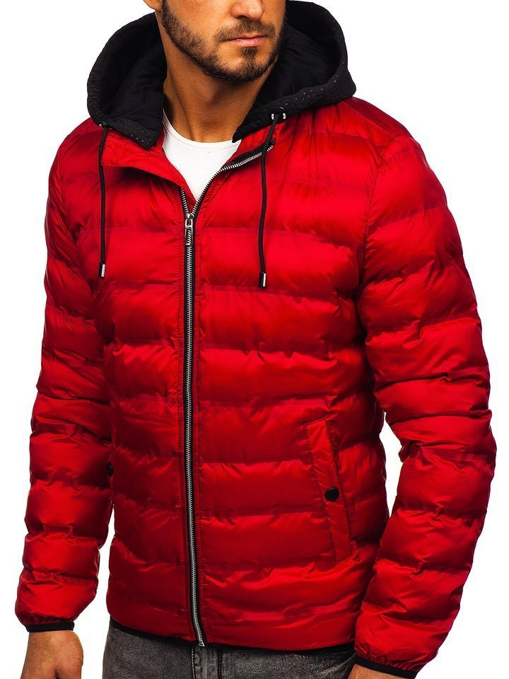 Geacă de iarnă roșie Bolf 5332 imagine