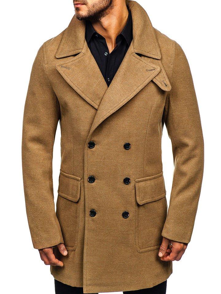 Palton de iarnă negru bărbați Bolf 1048 imagine