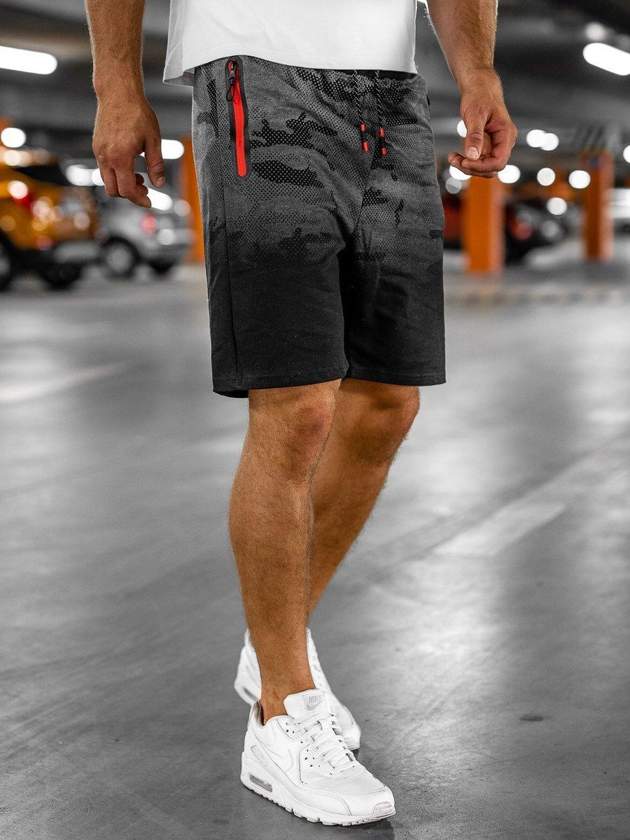Pantaloni scurti trening grafit Bolf KK213 imagine