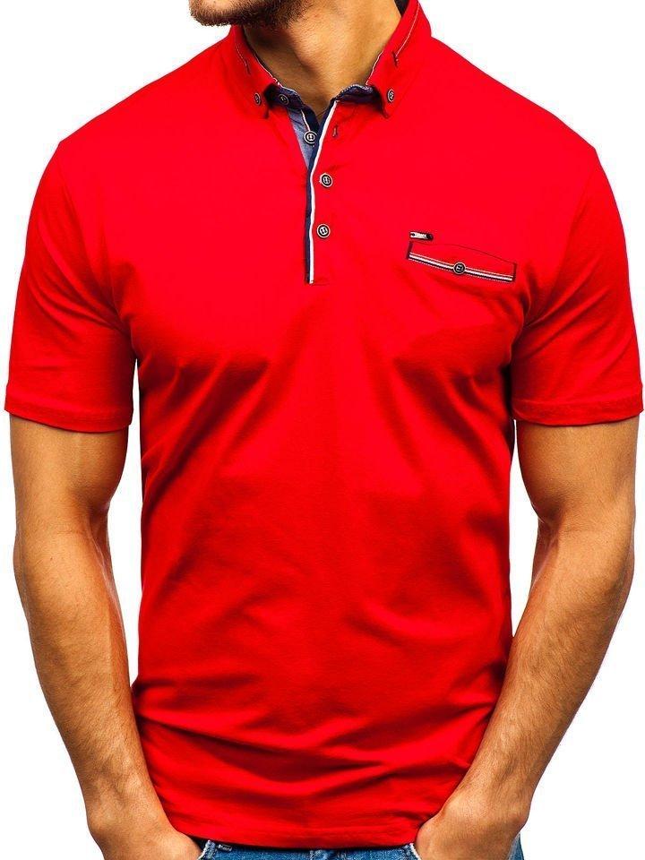 Tricou polo bărbați roșu Bolf 192037
