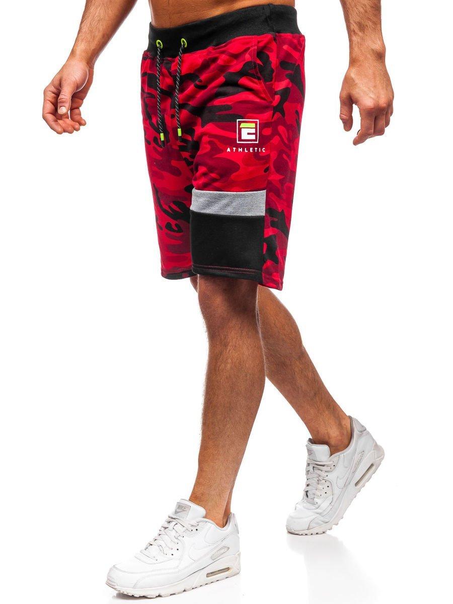 Pantaloni scurți de trening roșii bărbați Bolf KK300160 imagine