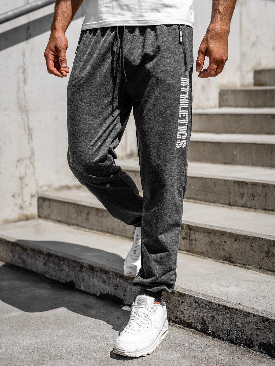 Pantaloni de trening grafit bărbați Bolf CE010 imagine