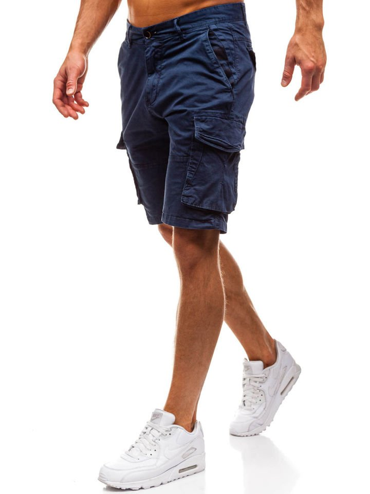 Pantaloni scurți cargo bărbați bleumarin Bolf 82221