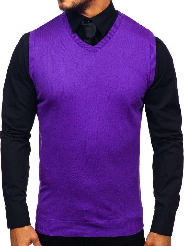 Pulover vestă bărbați violet Bolf 2500
