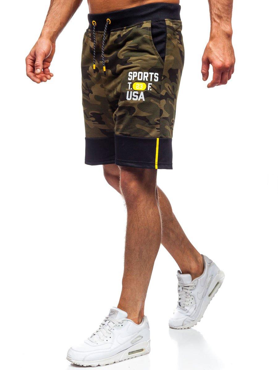 Pantaloni scurți de trening kaki Bolf KK300158 imagine