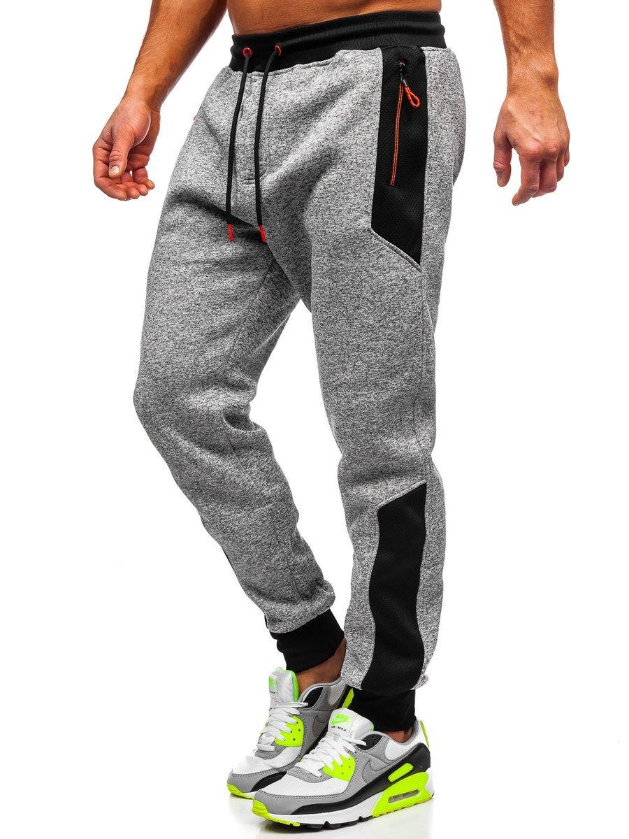 Pantaloni de trening gri bărbati Bolf TC843