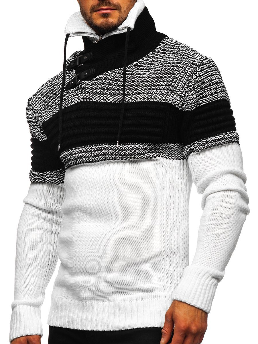 Pulover alb gros Bolf 2002 imagine
