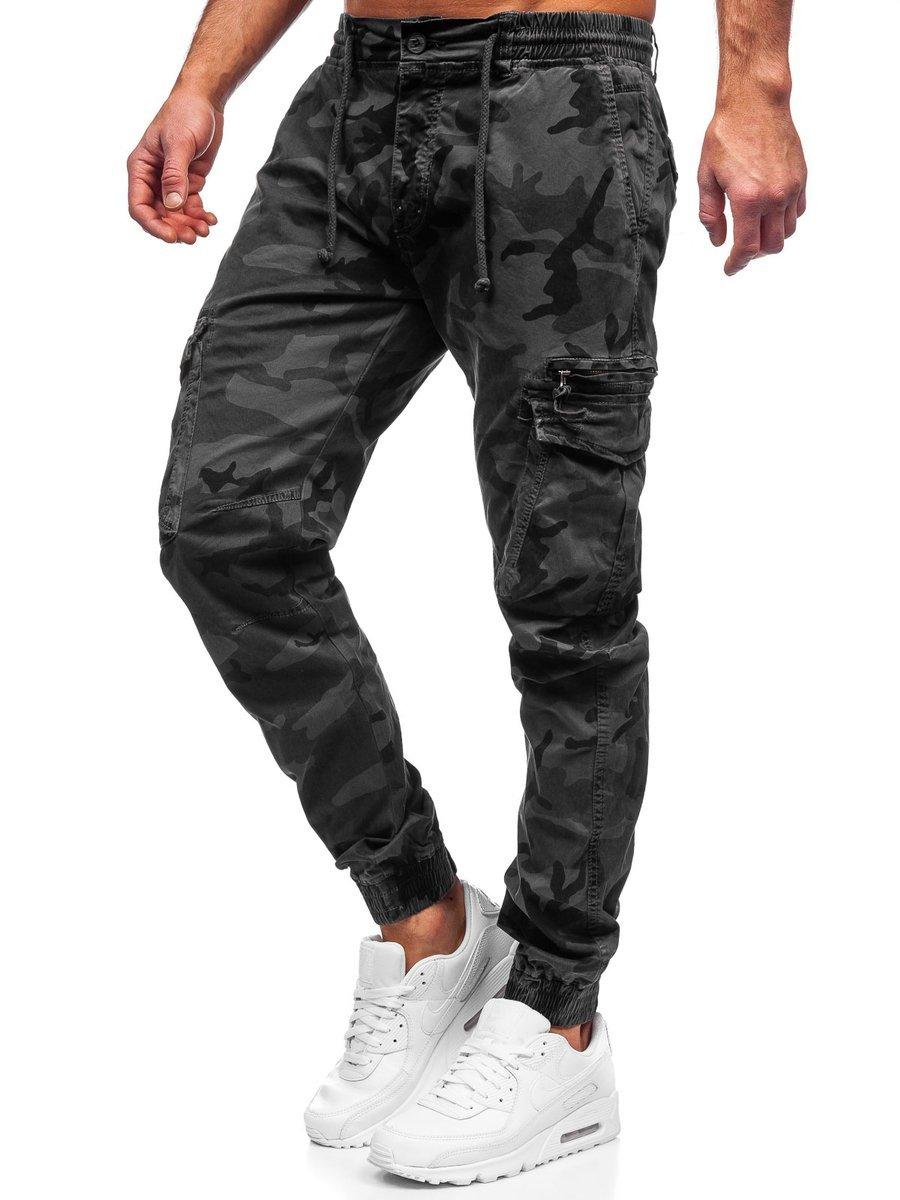 Pantaloni cargo gri Bolf CT6026S0