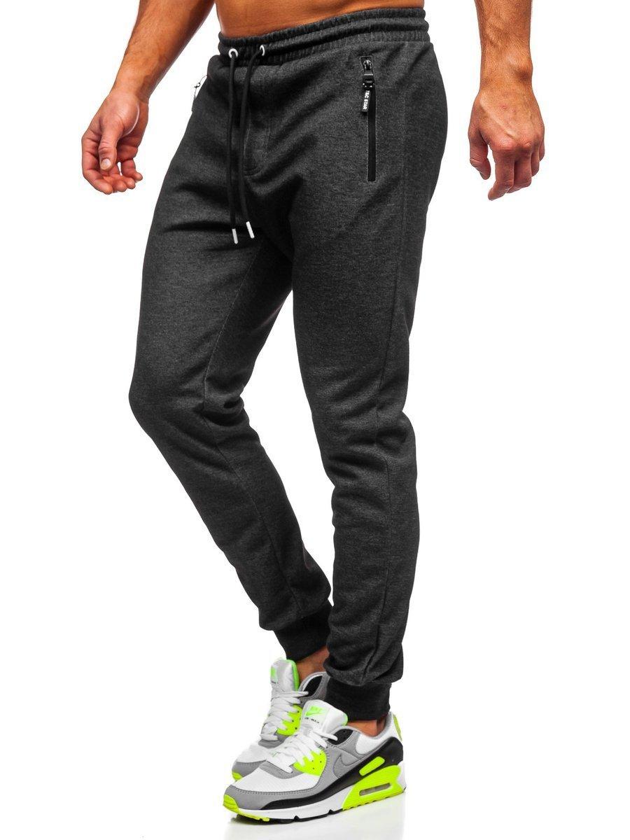 Pantaloni de trening negru-alb bărbați Bolf Q1054