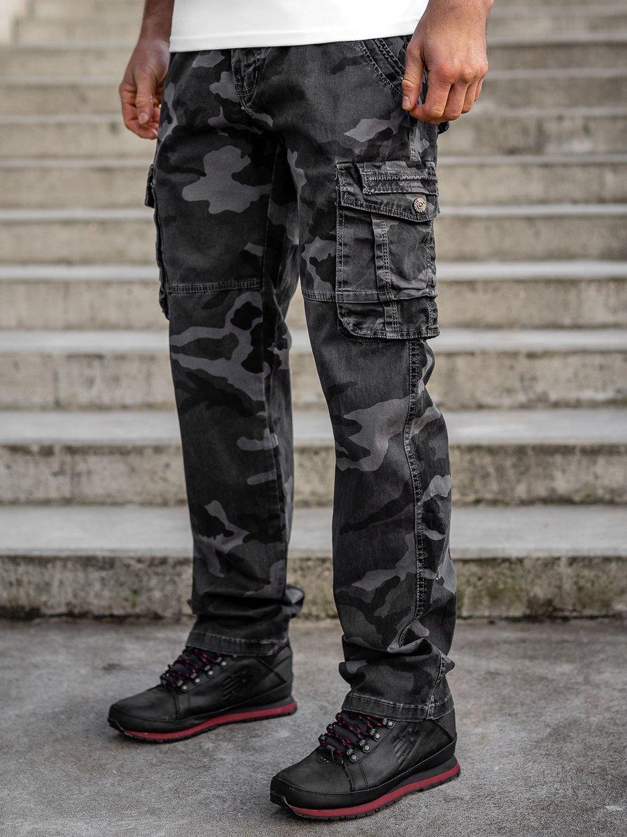 Pantaloni grafit cargo cu curea Bolf CT8503 imagine