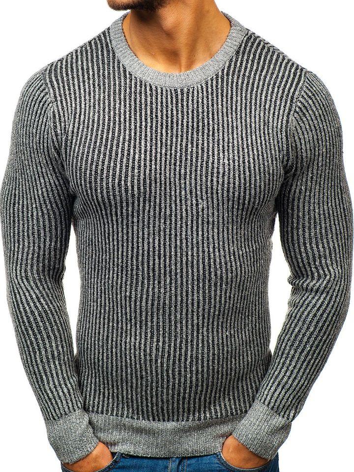 Pulover pentru bărbat gri Bolf H1818 imagine