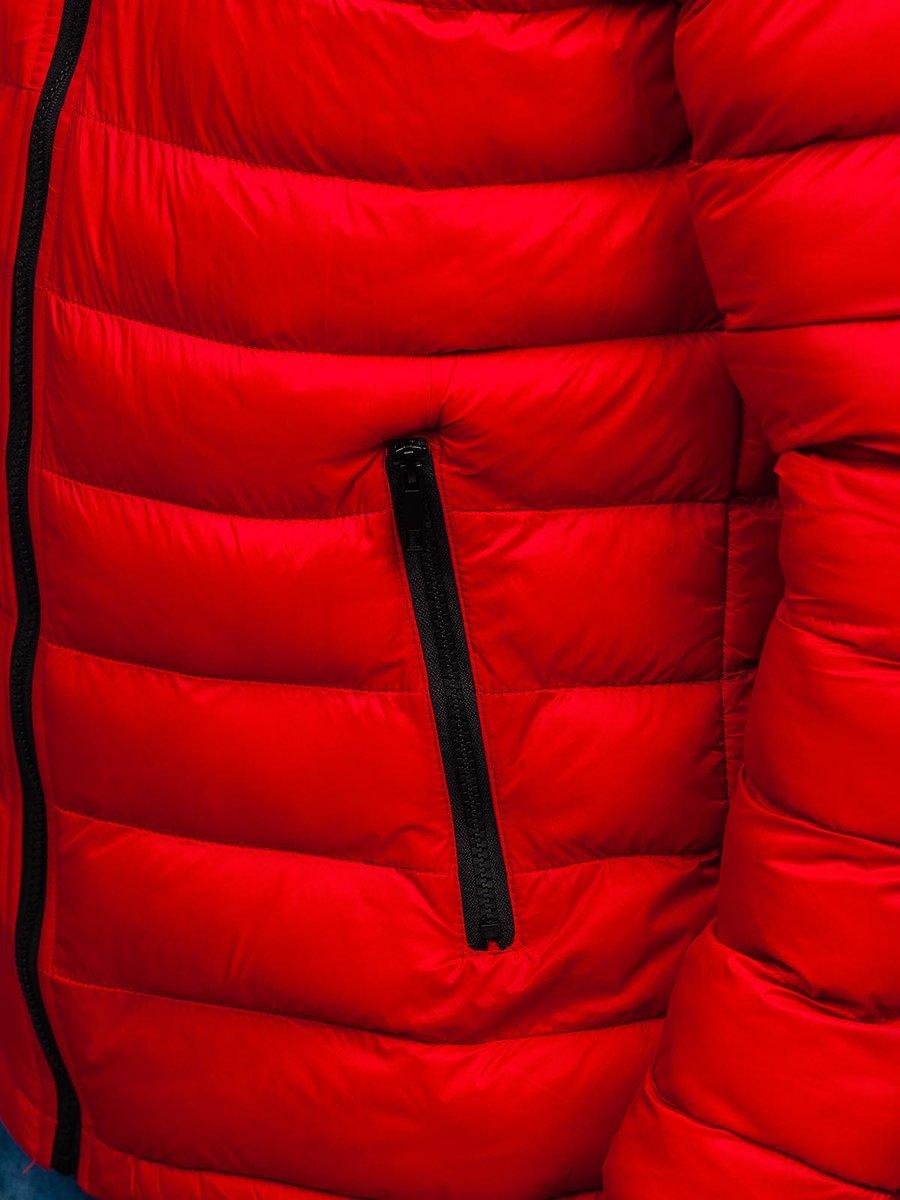 Geaca de iarnă sport matlasată rosie Bolf JP1101