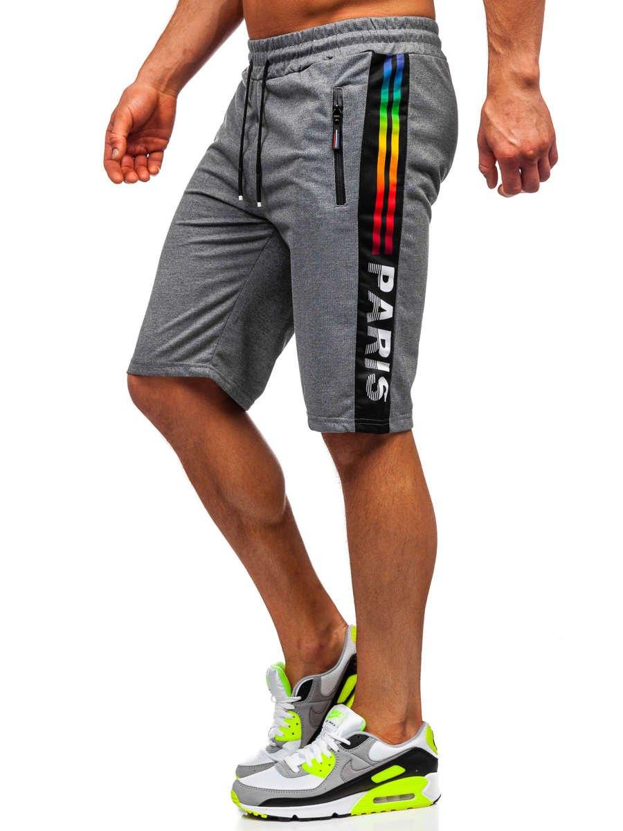 Pantaloni scurți de trening grafit Bolf JX356 imagine