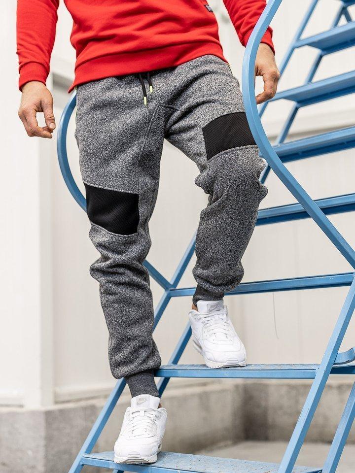 Pantaloni de trening bărbați grafit Bolf TC880