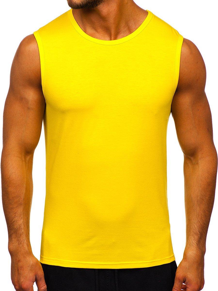 Maiou galben-neon bărbați Bolf 99001