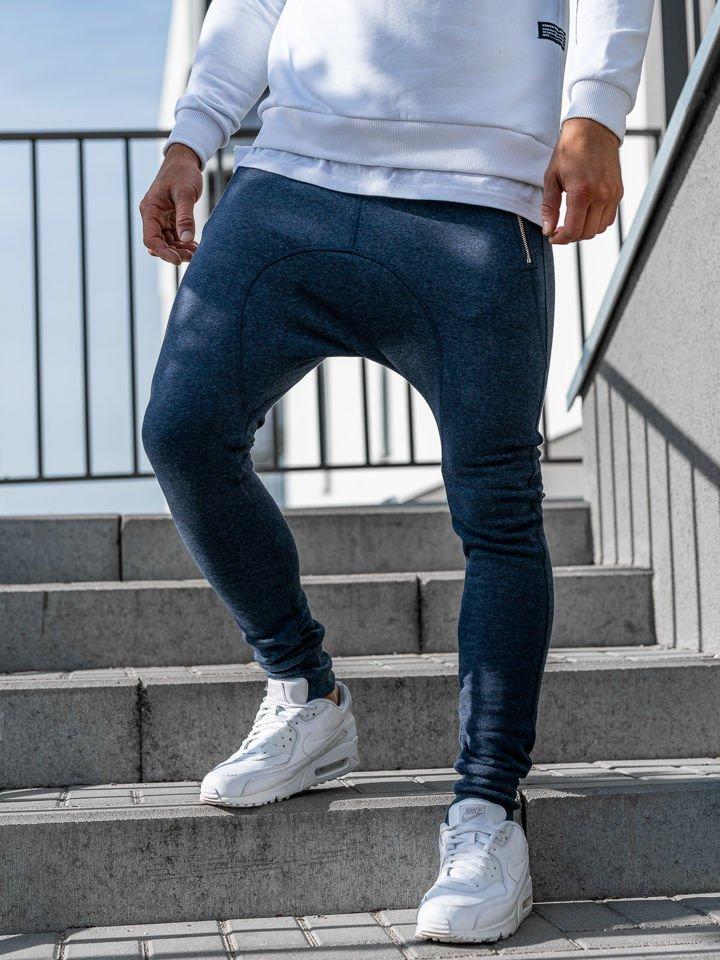 Pantaloni sportivi baggy pentru bărbat bluemarin Bolf 43S-S