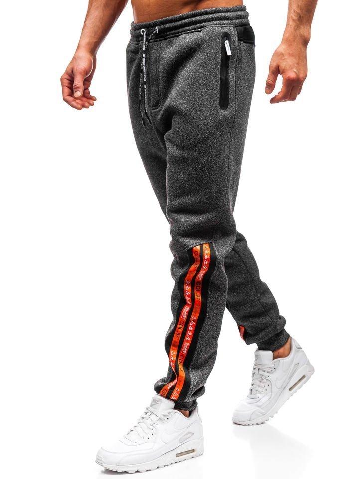 Pantaloni de trening bărbați negru-alb Bolf Q3869