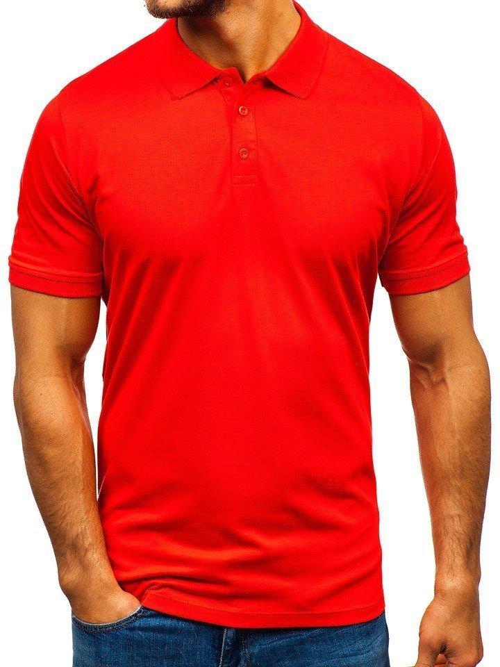 Tricou polo bărbați portocaliu Bolf 9025