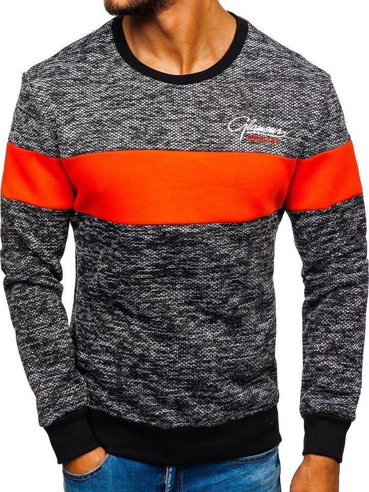 Bluză cu imprimeu bărbați portocaliu Bolf KS1895