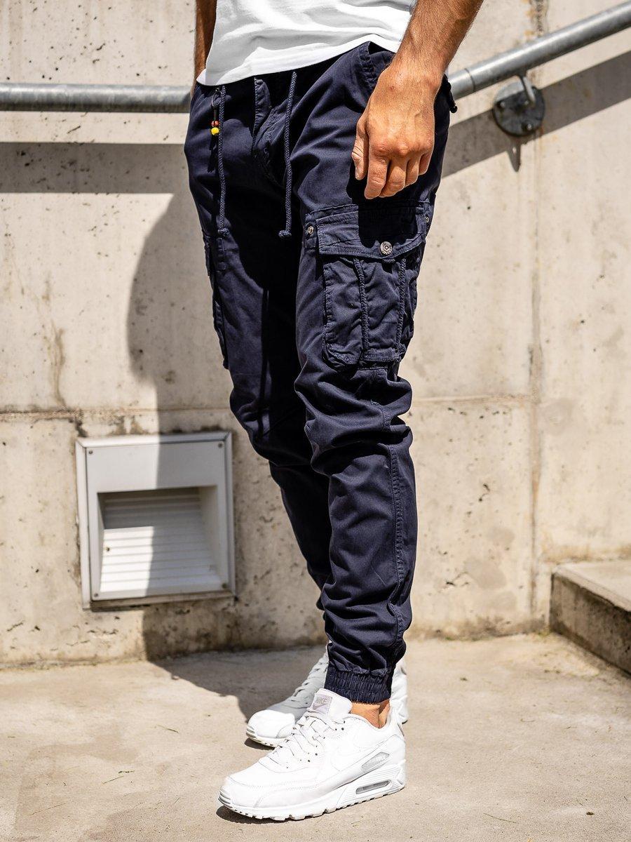 Pantaloni cargo joggers bleumarin bărbați Bolf CT6703 imagine