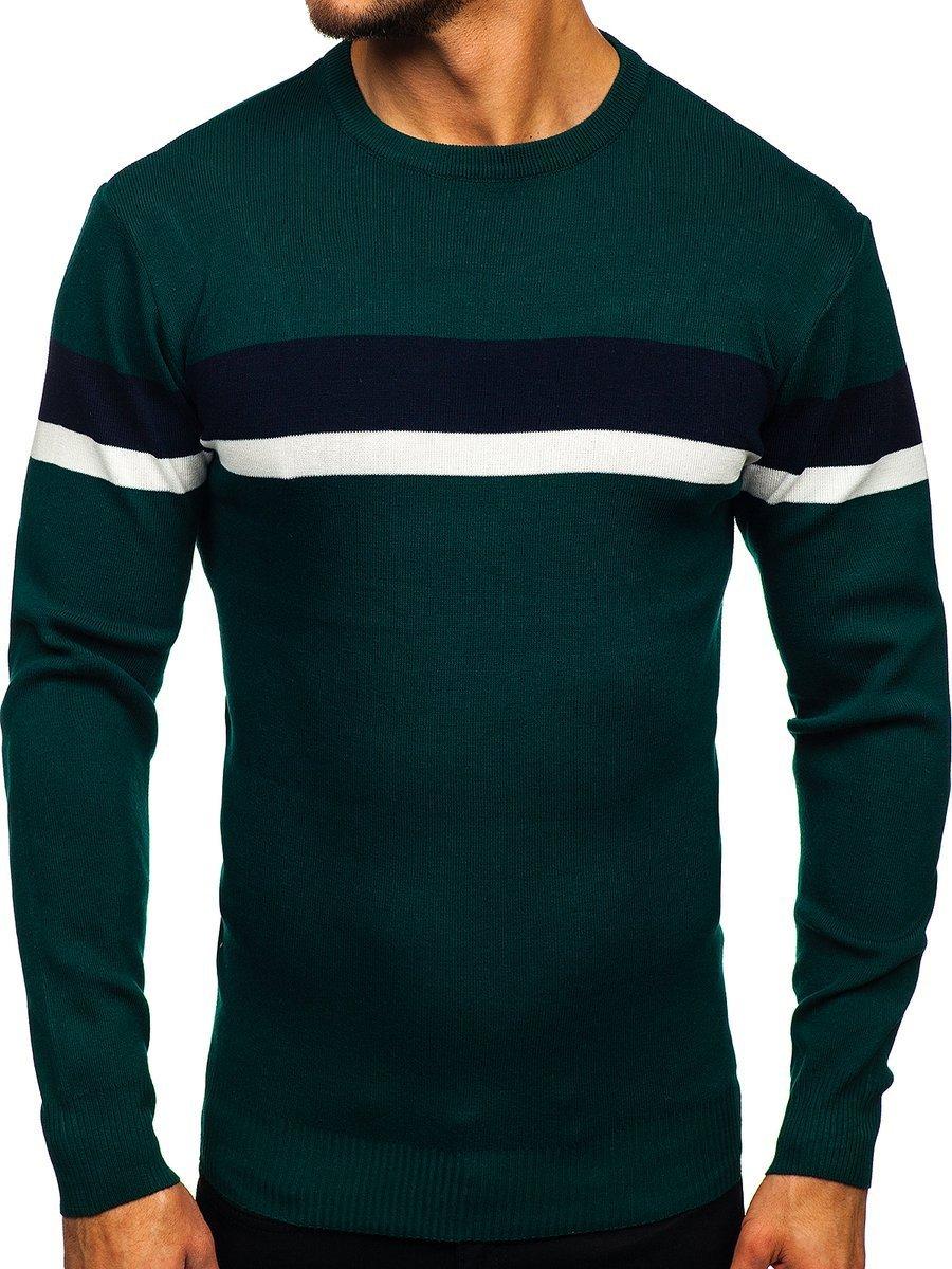 Pulover verde bărbați Bolf H2072