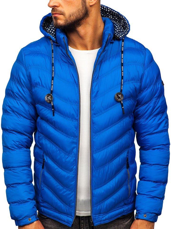 Geacă sport de iarna matlasata albastra Bolf 50A255