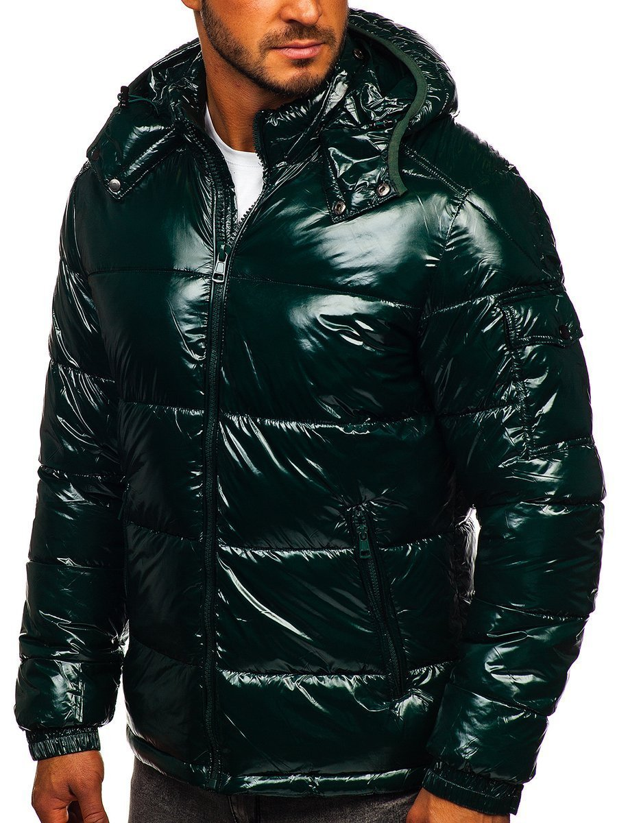 Geacă de iarnă sport matlasată verde Bolf 974 imagine