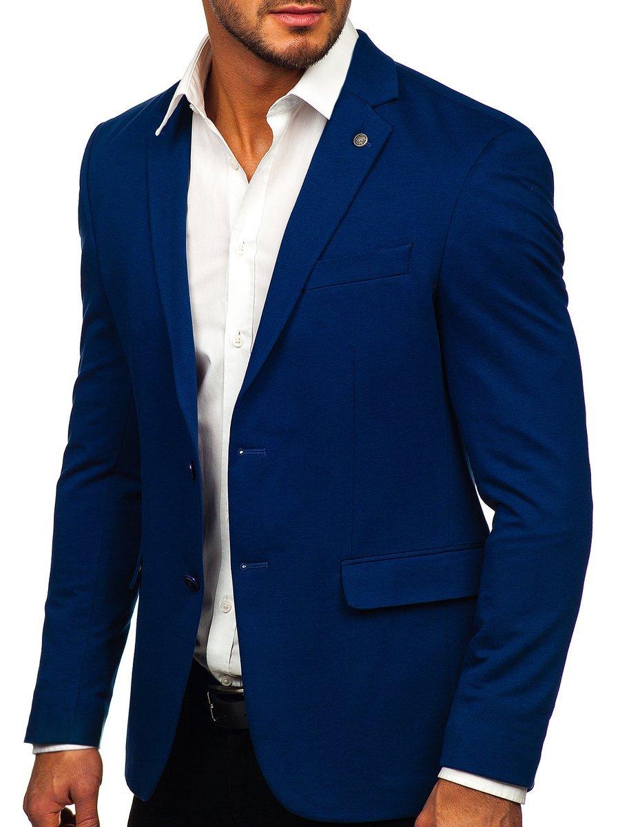Sacou elegant albastru Bolf C191060 imagine