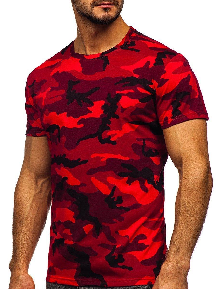 Tricou bărbați camuflaj-roșu Bolf S807