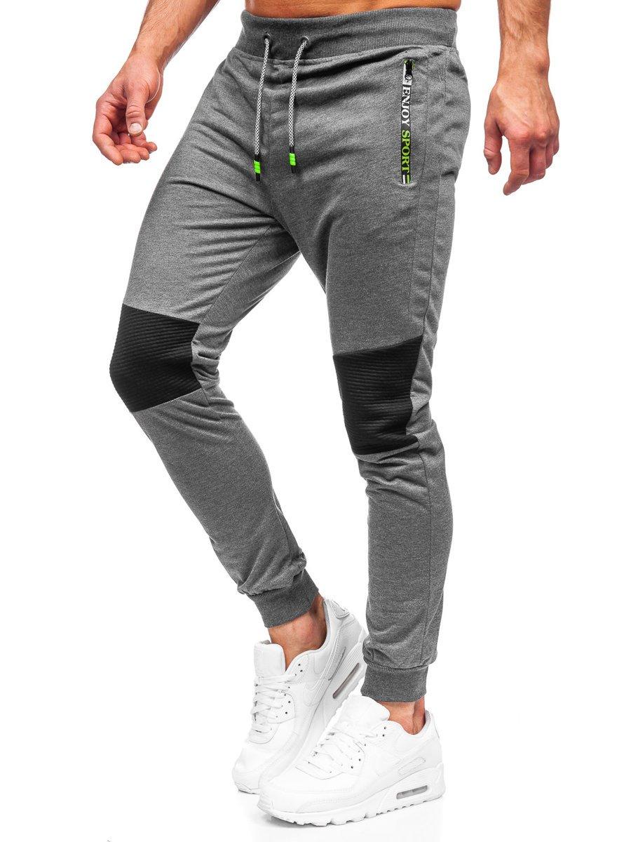 Pantaloni de trening grafit Bolf K10216