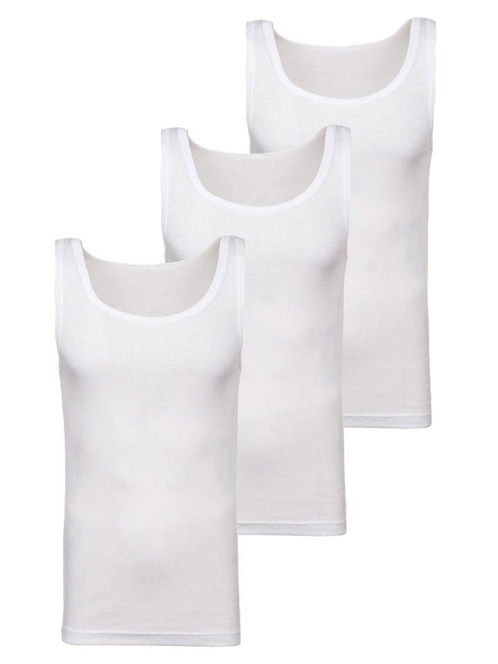 Maiou pentru bărbați fără imprimeu alb 3 Pack Bolf C10043-3P