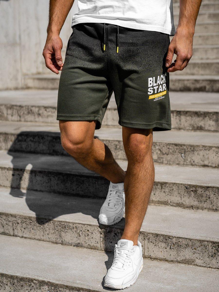 Pantaloni scurți sport bărbați verzi Bolf 5753 imagine